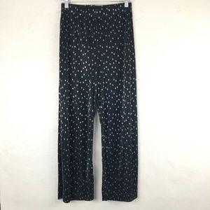Topshop Metallic Polka Dot Pleated Plisse Pants